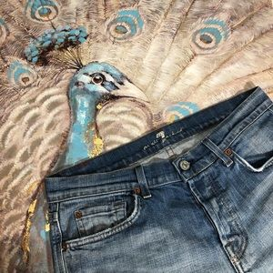 7 for all Mankind Buttonfly Bootcut Jeans Size 30